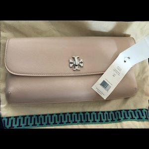 Tory Burch Diana saffiano leather flap clutch